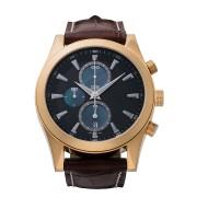 【50%OFF】CHRONOGRAPH Ⅱ VARIATION クロノデイト レザーベルト ウォッチ フェイス:ブラック ベルト:ブラウン ファッション > 腕時計~~メンズ 腕時計