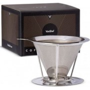 Filtru de cafea Ultra-fin VonShef 1000093, Inox, Suport sita
