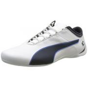 Puma Men's Bmw Ms Future Cat S2 Puma White and Team Blue Leather Sneakers - 6 UK/India (39 EU)