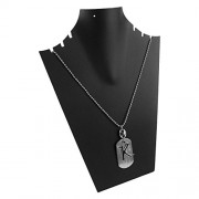 eshoppee K Name Plate Locket with Dog tag for Men and Women