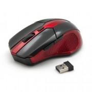 Sbox Mouse Ottico 6D Micro Ricevitore USB Wireless 800-1600 dpi Nero/Rosso