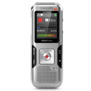 Reportofon digital PHILIPS DVT4010, 8GB, USB, LCD color, activare vocala (Argintiu)