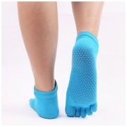 Las mujeres anti-deslizamiento Yoga Deportes Toe Socks cinco dedos Fit