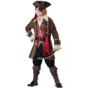InCharacter Costumes Captain Skullduggery Costume, One Color, Size 8