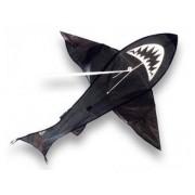 Cerf-Volant Monofil Requin 125x108 Cm Prêt À Voler (Fil, Poignée)