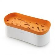 Lékué® mikrózható tésztafőző edény, narancs-fehér színben