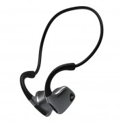 R9 Smart Bone Conduction Bluetooth Headphone Wireless Headset Neckband Earphone - Black