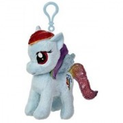 Aurora World My Little Pony Clip-On Rainbow Dash Pony Plush 4.5