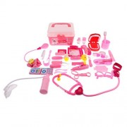 Baoblaze 40 Pieces Baby Kids Role Pretend Play Doctor Nurse Kits Set Educational Toy Electric tools & gadgets Pink