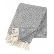 Klippan Yllefabrik Samba ullpläd med fransar grey, klippan yllefabrik