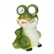 Geen Zonne-energie verlichting krokodil 20 cm