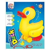 Ratnas Pull Along Quacking Duck for Toddlers to Play & Learn to Walk