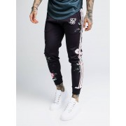 SikSilk Oil Paint Cropped Cuffed Pants Black L
