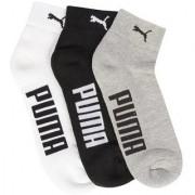 Puma Multicolour Cotton Ankle Length Socks - 3 Pairs