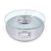 Leifheit AG SOEHNLE Roma Digitale Küchenwaage, Klassische Eleganz mit klaren Formen, Farbe: silber