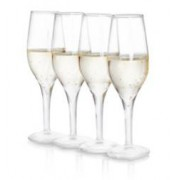 Thumbs Up Pack de 4 verres à Shot forme flûte à champagne