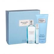 Abercrombie & Fitch First Instinct Blue confezione regalo eau de parfum 100 ml + eau de parfum 15 ml + lozione corpo 200 ml donna