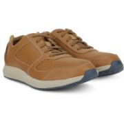 Clarks Sirtis Mix Dark Tan Lea Sneakers For Men(Tan)
