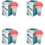 SWARA B22 3W COLOR LED BULB RED- PACK OF 4