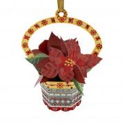 Karácsonyfadísz Üdvözlőlap - Poinsettia