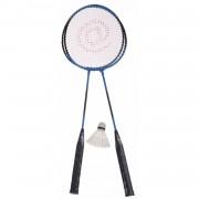 Amigo badmintonset Ch@t staal blauw 4-delig