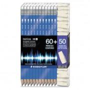Norica Woodcase Pencil, Graphite Lead, Blue Barrel, 60/pack