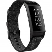 Bratara fitness Fitbit Charge 4, Special Edition, HR, IP67, NFC, Black Aluminum Case, Granite Reflective Band
