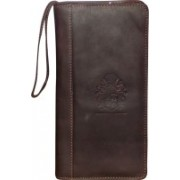 Kan New Year Gift-Premium Quality Hunter Leather Travel Document Holder/Passport Organizer with 3 Passports(Brown)