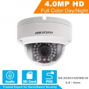 HIKVISION CCTV Camera DS-2CD2142FWD-IS 4 Megapixels CMOS Network Dome Camera 1080P Full HD IP Camera PoE Built-in SD & Audio