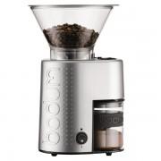 Bodum BISTRO Broyeur à café électrique, finition métallique alu Argenté brossé