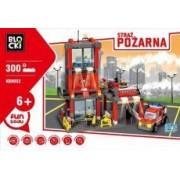 Icom Klocki Blocki Straż pożarna Remiza mała 300 elementów