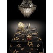 Merkloos Oud en Nieuw tafelkleed met gouden sterren 130 x 180 cm