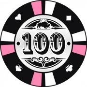 Kerámia póker zseton 100