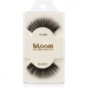 Bloom Natural изкуствени мигли от естествен косъм No. 100 (Black) 1 см