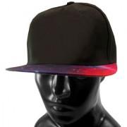 Black Plain Cotton Caps 06 B