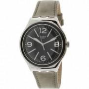 Ceas barbatesc Swatch Dorsoduro argintiu Leather Swiss Quartz YWS422