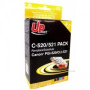 Мастилници UPRINT комплект CANON PGI-520 + CLI-521BK/C/M/Y XL, LF-INK-CAN-520/521-PACK
