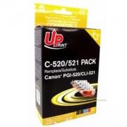 Мастилници UPRINT комплект CANON PGI-520 + CLI-521BK/C/M/Y XL, LF-INK-CAN-520/521-PACK