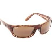 Maui Jim Rectangular Sunglasses(Brown)