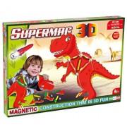 Supermag 3D - Jucarie cu magnet T-Rex, 40 piese