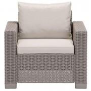 Allibert fauteuil California (excl. kussens) - cappuccino - Leen Bakker