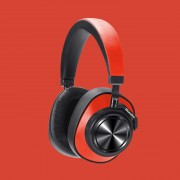 BLUEDIO T7 Bluetooth Headphones User-defined Active Noise Cancelling Wireless Headset with Face Recognition - Red