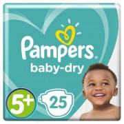 Pampers Baby-Dry Maat 5+, 12-17kg, 25 Luiers
