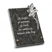 Gedenksteen 17x22cm met Viool: Je liefde, je warmte, je lach