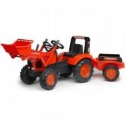 Tractor Kubota cu Cupa si Remorca