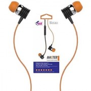 High Bass Wired EarPhone With Mic Hi-Resolution Pure Voice Brand new Music Experience(ORANGE-BLHFK 250)