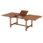 Bővíthető négyszögletes kerti asztal fából, 230x110