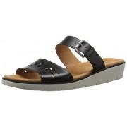 Naturalizer Women's Daria Wedge Sandal, Black, 7 M US