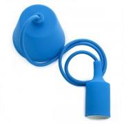 Portalámparas Silicona E27 Azul