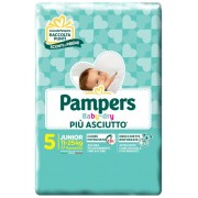 Fater spa Pannolini Per Bambini Pampers Baby Dry Downcount No Flash Junior 17 Pezzi